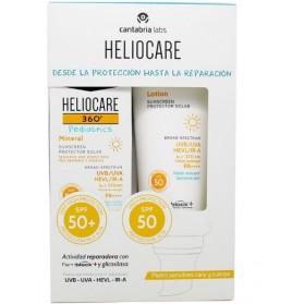 PACK HELIOCARE SPF50+ PEDIATRICS (LOCIÓN SPF50+ Y MINERAL SPF50+)